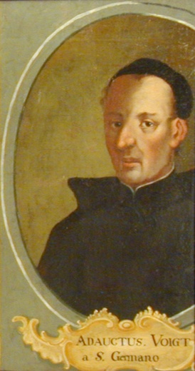 Fig. 9. Nicolaus Adauct Voigt, oil painting by Taddeus Schuegger in former monastery Zlatá Koruna (Golden Crown)