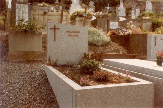 Místo posledního odpočinku bratrance Ing. Ivana Chuděje (1941-1978) v Saint-Gervais-les Bains u Chamonix-Mont-Blanc.