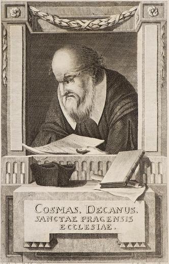 Obr. 2. Kronikář Kosmas